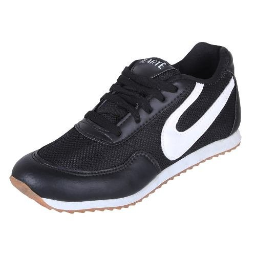 ILARTE Unisex Black MARATHON/RUNNING/WALKING PU Shoe For MEN's Size: 10