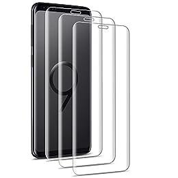 [3 Unidades] Cristal Templado Samsung Galaxy S9 / S8, Outera Protector Pantalla Vidrio Templado para Samsung Galaxy S9 / S8