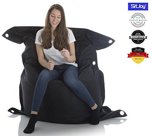 SitJoy Fashion Sitzsack | 140x200 cm | Outdoor & Indoor | Mit Innenhülle | 390 Liter Füllung...