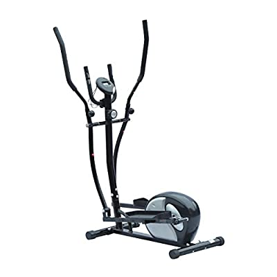 HOMCOM 8 Levels Magnetic Elliptical Exercise Cross Trainer Indoor Resistance Fitness Workout Machine Cardio Home Gym Sports Equipment 3kg Flywheel w/ LCD by Sold by MHSTAR