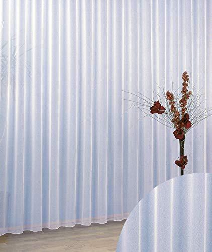 Gardinen Vorhang Store Webstore halbtransparent mit Kräuselband und Bleibandabschluss HxB 245x300...