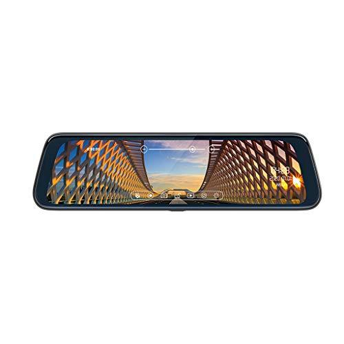 Detrade 10 Touchscreen Auto DVR Doppelobjektiv Full HD 1080P Dash Cam Videorekorder Kamera Streaming Media DVR Spiegel (Black)