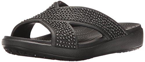 Crocs Women's Crocssloane Embellished Xstrap Slide Sandal
