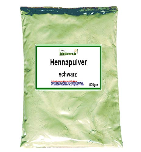 Pulver-haarfarben (Henna Pulver schwarz (500 g) Hennapulver Haarfarbe natürliche Haarpflege)