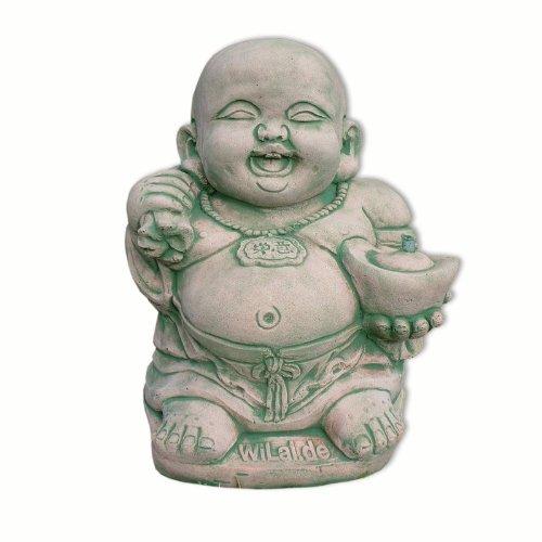 Estatua, Buda pequeño-grueso, fuente (10205)
