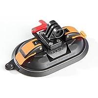 iSHOXS Saugnapf-Halterung für GoPro und kompatible Action-Cams - Power Force Cup – Suction-Cup mit neuartiger Doppel-Membran
