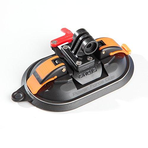 iSHOXS Saugnapf-Halterung passend für GoPro und kompatible Action-Cams - Power Force Cup - Suction-Cup mit neuartiger Doppel-Membran