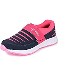 TRASE Touchwood Women's Shark Sports Shoes for Running/Jogging (with Hook & Loop Fastner)