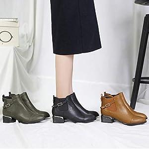 Top Shishang Herbst und Winter weiblichen Spitzen dicken High Heel Martin Stiefel Chelsea Stiefel und Stiefeletten westlichen Stiefeletten