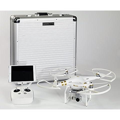 Koozam NUOVO DJI Phantom 3 HardCase progettato per adattarsi il Fantasma 3 Professional , Advanced e Standard Edition Drone di con il puntello Guardie su DJI PHANTOM 3 , Adatto ai modelli Altro DJI pure ( argento )