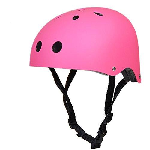 Skateboard Helm Multi-Sport-Helm - Impact Resistance Safe Helm mit Belüftung für Multi-Sport-Radfahren Skateboard Roller Longboard Skate Skating Rollerblading Elektro-Bike (S(50-54cm), Rosa)