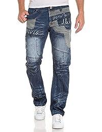 BLZ jeans - Jeans denim droit bicolore fantaisie et délavé