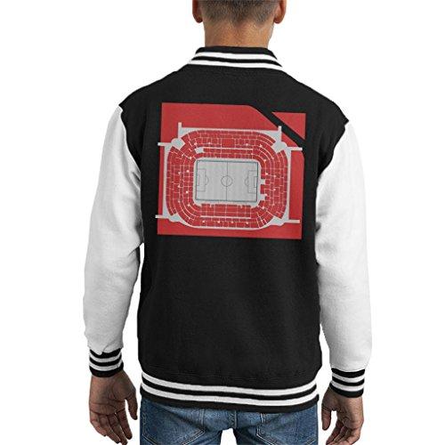 San Siro Football Stadium Overhead AC Milan Kid's Varsity Jacket