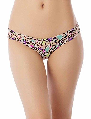 ayered Leopard sehen durch Lace Back niedrige Leibhöhe Bikini Höschen, Größe: S, Mehrfarbig ()