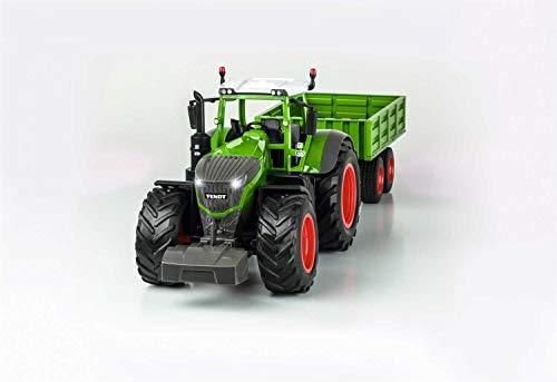 RC Auto kaufen Traktor Bild 4: Carson 500907314 500907314-1:16 RC Traktor mit Anhänger 100% RTR, Ferngesteuertes Fahrzeug, Baufahrzeug mit Funktionen Licht und Sound, inkl. Batterien und Fernsteuerung, grün*