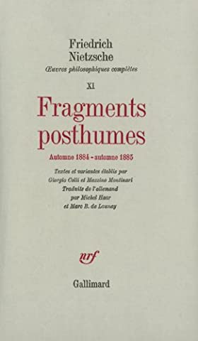 Fragments posthumes (automne 1884 - automne
