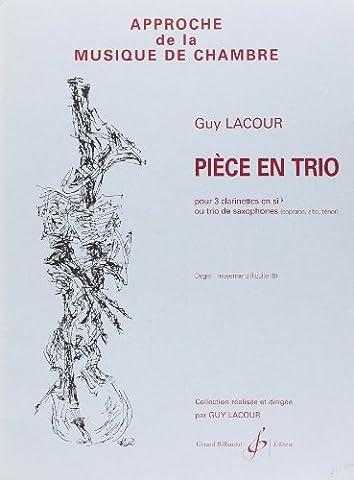 Pièce en Trio - 3 Clarinettes en Sib Ou Trio de Saxophones S a T