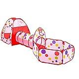 LIUQIGRASS 3 Sätze Von Spielzeug Zelt Ball Pool, Kinderzelt Baby Zelt Kriechtunnel Marine Zelt...