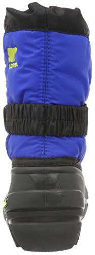 Sorel Childrens Flurry, Bottes mixte enfant Noir (Black/Super Blue 014)