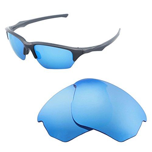 Walleva Ersatz-Gläser für Oakley Flak Beta-mehrere Optionen, Ice Blue - Polarized