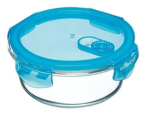 KitchenCraft Pure Seal Boîte alimentaire hermétique en verre allant au four, 350ml –Rectangulaire, Verre, claire, 600 ml (1 Pint)
