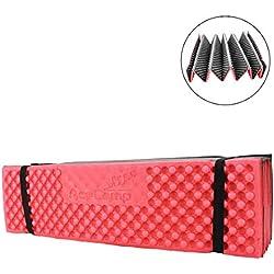 AceCamp 3941-acordeón de Longitud Completa Dormir Pad, Rojo