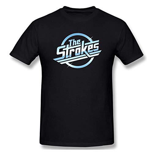 Pimkly Herren Kurzarm Shirt Sportbekleidung, The Strokes Logo Print Short Sleeve T Shirt for Men and Women