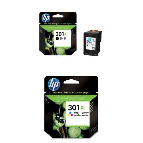 Preisvergleich Produktbild HP 301XL Farbe Original Druckerpatrone mit hoher Reichweite für HP Deskjet, HP ENVY, HP Photosmart & HP 301XL Schwarz Original Druckerpatrone mit hoher Reichweite für HP Deskjet, HP ENVY, HP Photosmart