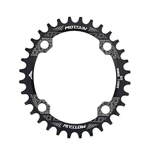 Fahrrad Kettenblatt Single Speed Oval Kettenblätter 32/34 / 38T für Mountainbike BCD 104mm(32T)