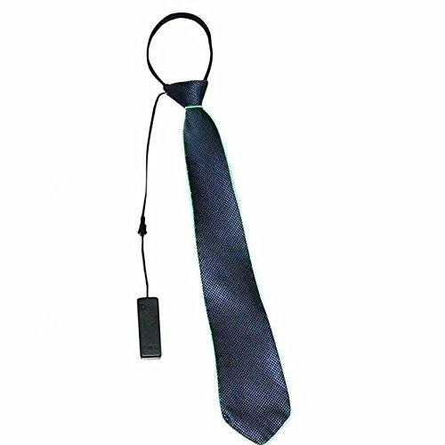 D Leuchtende Krawatte für Männer (ohne Batterie) - Grün, 45x8cm ()