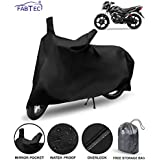 FABTEC Waterproof Taffeta Bike Body Cover for TVS Victor with Storage Bag Combo (Multicolour)