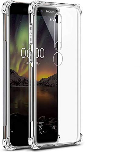 Finely Bumper Back Cover for Nokia 6.1 (Transparent)