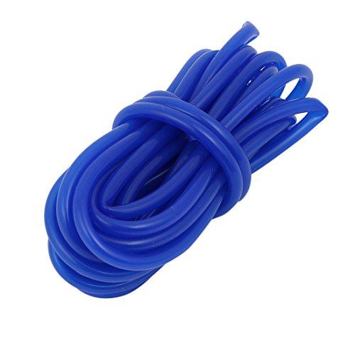 sourcing map 4mmx6mm Durchmesser Hochtemperaturbeständige Silikon Rohr Schlauch Gummi Marine Blau 5M Lange (Silikon-rohr)