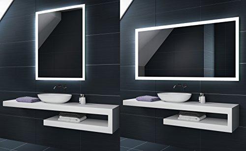 Blanco Frio 80x60 / 60x80 cm | Espejo de baño moderno e...