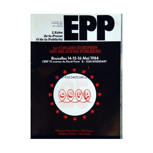 ECHO DE LA PRESSE ET DE LA PUBLICITE (L') [No 1341] du 19/12/1983 - 1ER CONGRES EUROPEEN DES RELATIONS PUBLIQUES / BRUXELLES