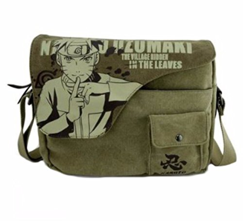 Casual Cartera de libros Backpack Verde Naruto