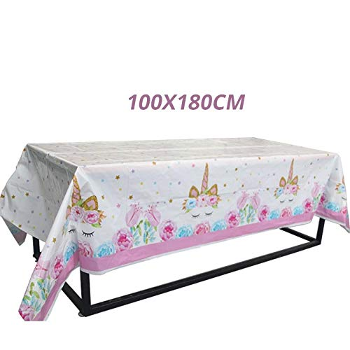 upplies Pink Rainbow Unicorn Banner Plate Balloon Napkin Cupcake Wrapper Baby Shower Kids Birthday Decor ()