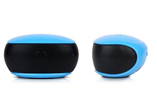 Preisvergleich Produktbild Britzer br-3380Rocky Tragbarer Bluetooth-Lautsprecher Wireless wiederaufladbar Sound Cube Bluetooth erhalten/Smartphone Galaxy A5A6A7S5S6S7 blau