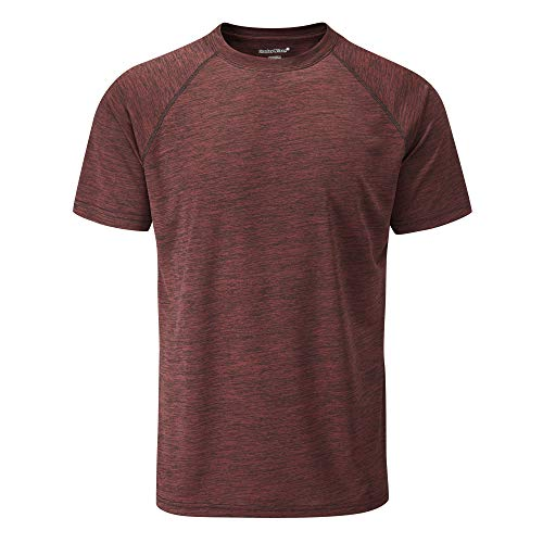 Wilson Authentic Jersey (Charles Wilson Männer Kurzarm Fitness T-Shirt (Large, Port))