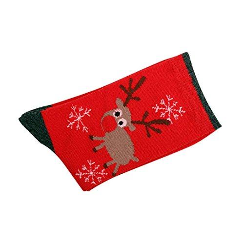 TWIFER Mädchen Frauen Winter Socken Weihnachtsgeschenk Warme Socken Soft Baumwollsocken (F, Freie Größe) (Cheerleader Gedruckt)