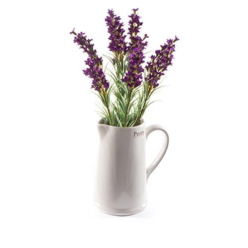 PEONY 7398Künstlicher Lavendel in Wenlock Krug -