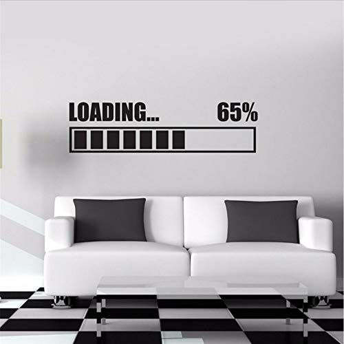 Waofe Stickers Muraux Vinyle Decal Chargement Gamer Gaming Wall Sticker Roommates Décor À La Maison Mur Art Murales Design 58 * 16 Cm