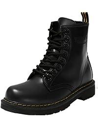 Minetom Moda Invierno Zapatos Antideslizante Impermeable Martin Boots Botines Botas de Nieve Para Mujer