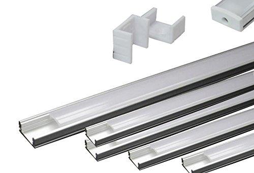 LED de aluminio perfil Slim Line 8mm con protectora de 5metros