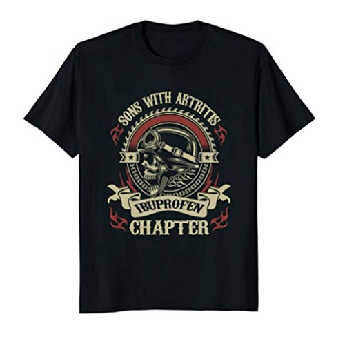 0fba8197393 Sons With Arthritis - Ibuprofen Chapter Funny Bikers T-Shirt - Camiseta -  para Hombre