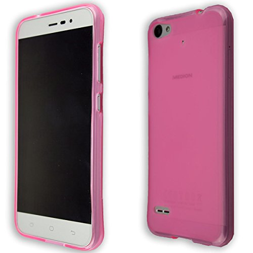 caseroxx Handy TPU-Bumper für Medion Life E5006 MD 60227 aus TPU, stoßfeste Schutzhülle Smartphone (Handyhülle TPU in pink)