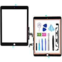 Tefir Black Digitizer Repair Kit for 2017 iPad 9.7(A1822, A1823)/ iPad 5 iPad Air 1st Touch Screen Digitizer Replacement (Without Home Button) with Tools + PreInstalled Adhesive
