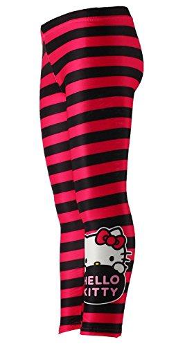 tze-Mädchen Schwarzer Streifen Legging Strumpfhosen Alter 10 Jahre ()