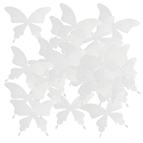 Gazechimp 100pcs Blumen Schmetterling zum Aufbügeln Stoff Konfetti Tischdekorationen für Hochzeit...