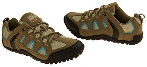 Donne Gola robusta Escursionismo, Camminare, scarpe da trekking Tortora